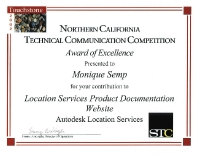 2002 – Excellence Award – Autodesk Location Services Product Documentation Website