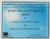 2005 – Merit Award - Terracotta Product Guide