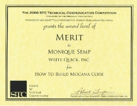 2006 – Merit Award – How to Build Mocana Code