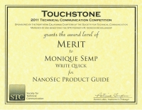 2011 – Merit Award – NanoSec Product Guide